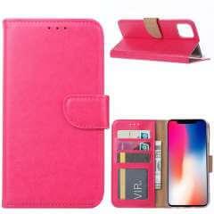 Apple iPhone 11 Pro Max Hoesje Roze met Pasjeshouder