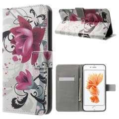 Apple iPhone 7 Plus | 8 Plus Hoesje Lotus met Opbergvakjes