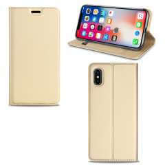 Apple iPhone Xs Max Hoesje Goud met Pashouder