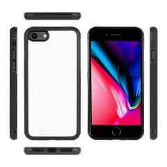 Back Case iPhone 7 | 8 | SE (2020) TPU Gripcase Hoesje Zwart/wit