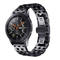 Bandje Zwart RVS Samsung Galaxy Watch (46 mm)