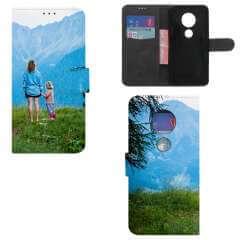 Boekhoesje Motorola Moto G7 Play met eigen foto