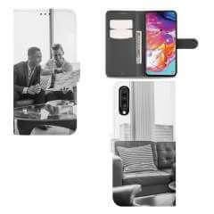 Boekhoesje Samsung Galaxy A70 met eigen foto