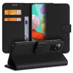 Hoesje Samsung Galaxy A51 Zwart met Pasjeshouder
