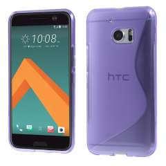 HTC 10 Hoesje Flexibel Paars met S-Vorm Design