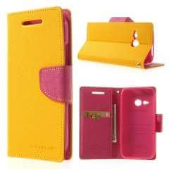HTC One Mini 2 Hoesje Geel/Roze