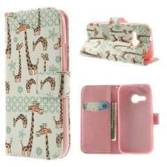 HTC One Mini 2 Hoesje Giraffen (Wallet Stand Case)