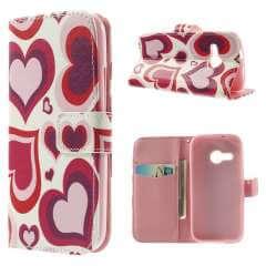 HTC One Mini 2 Hoesje Hartjes (Wallet Stand Case)