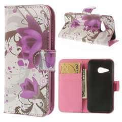 HTC One Mini 2 Wallet Stand Case Hoesje Lotus