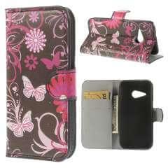 HTC One Mini 2 Wallet Stand Case Hoesje Vlinders