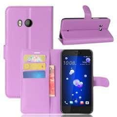 HTC U11 Hoesje Paars met opbergvakjes