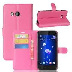 HTC U11 Hoesje Roze met opbergvakjes