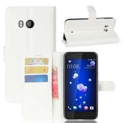 HTC U11 Hoesje Wit met opbergvakjes