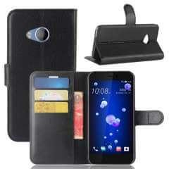 HTC U11 Life Hoesje Zwart met opbergvakjes
