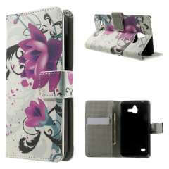 Huawei Ascend Y550 Wallet Stand Hoesje Lotus