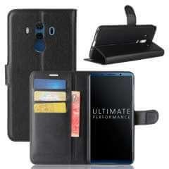 Huawei Mate 10 Pro Hoesje Zwart met opbergvakjes