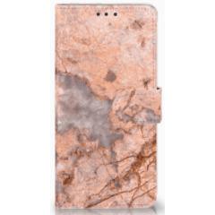 Huawei Mate 20 Boekhoesje Design Marmer Oranje
