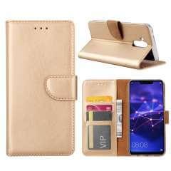 Huawei Mate 20 Lite Hoesje Goud met Pasjeshouder