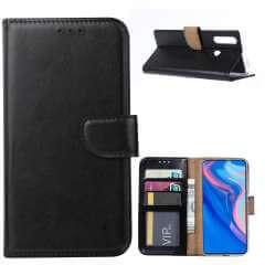 Huawei P Smart Z Hoesje Zwart met Pasjeshouder