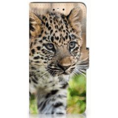 Huawei P8 Lite Smart (GR3) Uniek Hoesje Baby Luipaard