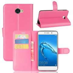 Huawei Y7 (2017) Hoesje Roze met opbergvakjes