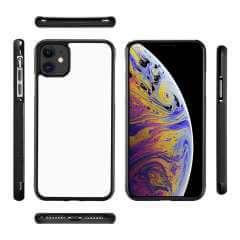 iPhone 11 TPU Gripcase Hoesje Zwart/wit