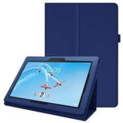 Lenovo Tab E10 Case Blauw met Standaard