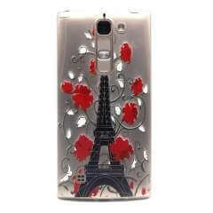 LG G4C | Magna Hip & Vrolijk Eiffeltoren Hoesje, flexibel