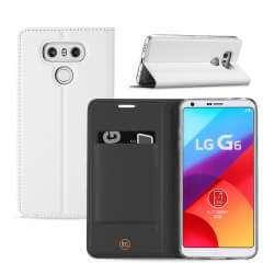 LG G6 Hoesje Wit met Opbergvakje