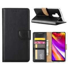 LG G7 Hoesje Zwart met Pasjeshouder