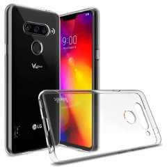 LG V40 Thinq TPU Hoesje Luxe Transparant