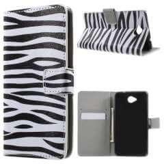 Microsoft Lumia 650 Hoesje Zebra met Opbergvakjes