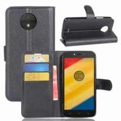Motorola Moto C Plus Hoesje Zwart met Flexibele Houder