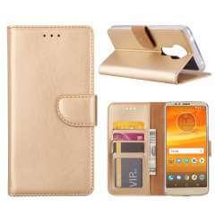Motorola Moto E5 Hoesje Goud met Pasjeshouder