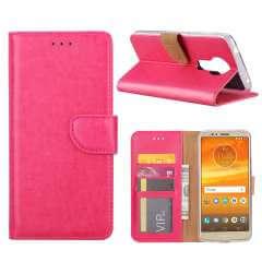 Motorola Moto E5 Hoesje Roze met Pasjeshouder
