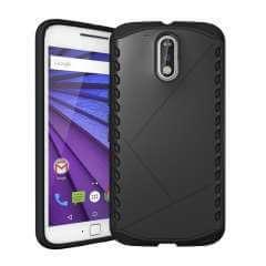 Motorola Moto G4 | G4 Plus Hip Hoesje Zwart, Plastic & TPU (rubber)