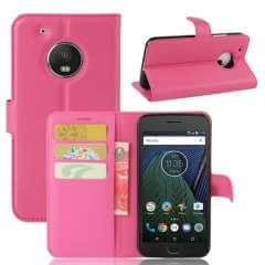 Motorola Moto G5 Hoesje Roze met Opbergvakjes