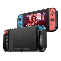 Nintendo Switch TPU Siliconen Backcase Zwart Transparant