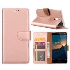 Nokia 2.1 Hoesje Rose met Pasjeshouder
