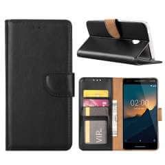 Nokia 2.1 Hoesje Zwart met Pasjeshouder