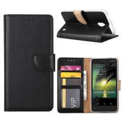 Nokia 2 Hoesje Zwart met opbergvakjes