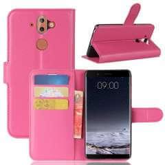 Nokia 8 Sirocco Hoesje Roze met Opbergvakjes