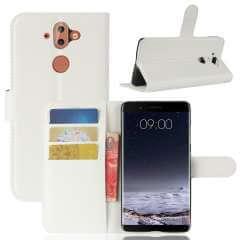 Nokia 8 Sirocco Hoesje Wit met Opbergvakjes