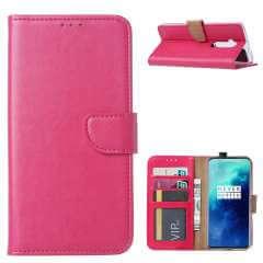 OnePlus 7T Pro Hoesje Roze met Pasjeshouder