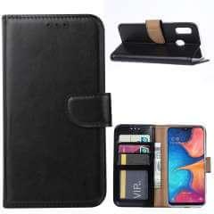 Samsung Galaxy A20e Hoesje Zwart met Pasjeshouder