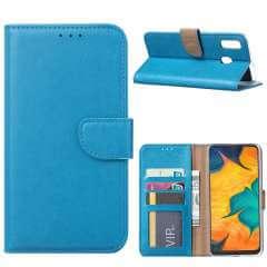 Samsung Galaxy A30 Hoesje Turquoise met Pasjeshouder