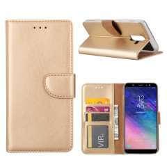 Samsung Galaxy A6 Plus (2018) Hoesje Goud met Pasjeshouder