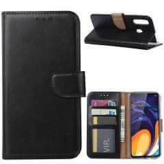 Samsung Galaxy A60 Hoesje Zwart met Pasjeshouder