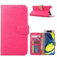 Samsung Galaxy A80 Hoesje Roze met Pasjeshouder
