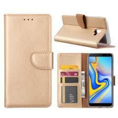 Samsung Galaxy J6 Plus (2018) Hoesje Goud met Pasjeshouder